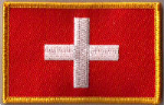 Switzerland Embroidered Flag Patch, style 08.